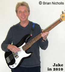 Jake demonstrates to author the bass part to Ciao Baby. Note: Jake's weapon of choice is still a Fender Precision bass