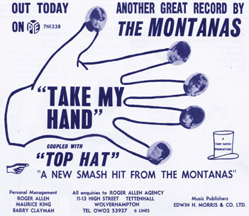 Publicity for Take My Hand/Top Hat