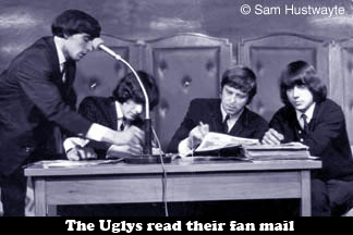 The Uglys reading their fan mail